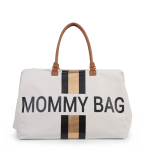 CHILDHOME PŘEBALOVACÍ TAŠKA MOMMY BAG OFF WHITE / BLACK GOLD
