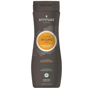 Přírodní pánský šampón & tělové mýdlo (2 v 1) ATTITUDE Super leaves s detoxikačním účinkem - normální vlasy 473 ml
