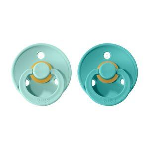BIBS Colour dudlíky z přírodního kaučuku 2 ks - vel. 2 Mint + Turquoise