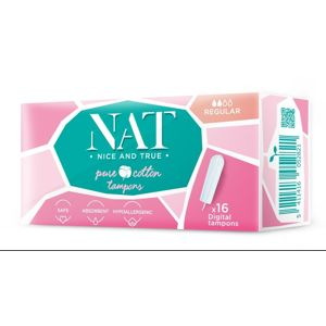 Tampony NAT nice & true z organické bavlny - regular (16 ks)