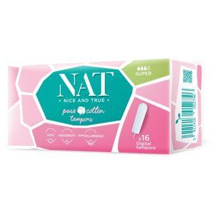 Tampony NAT nice & true z organické bavlny - super (16 ks)