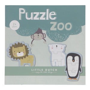 Little Dutch -Dřevěné puzzle Zoo